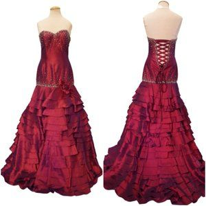 """Night Moves """"Passion"""" Corset Back Gown NWT- Sz.6"""